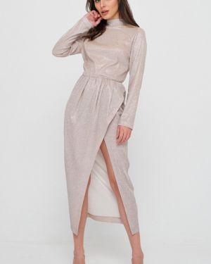 Платье с поясом с запахом на пуговицах Fly
