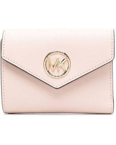Мягкий розовый кожаный кошелек Michael Michael Kors