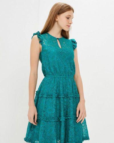 Вечернее платье бирюзовый Арт-Деко