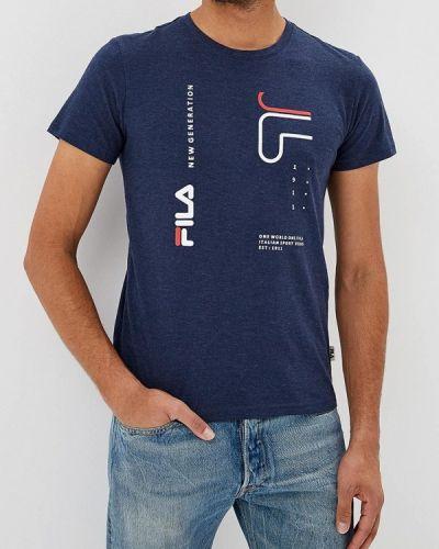 Синяя футболка 2019 Fila