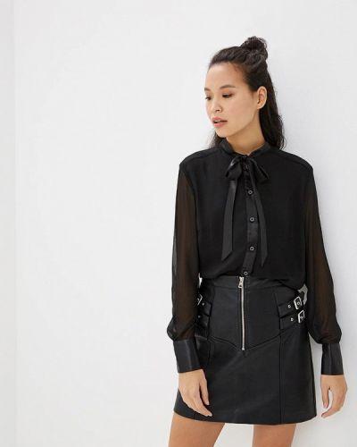 Блузка с длинным рукавом черная Style National