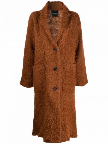 Шерстяное пальто - коричневое Roberto Collina