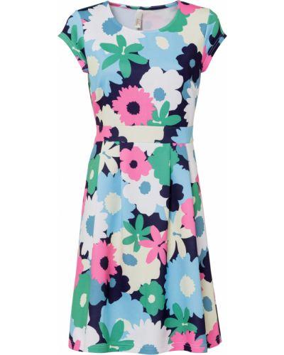 Синее платье в цветочный принт Bonprix