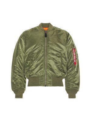 Текстильная зеленая куртка MA-1 двусторонняя Alpha Industries