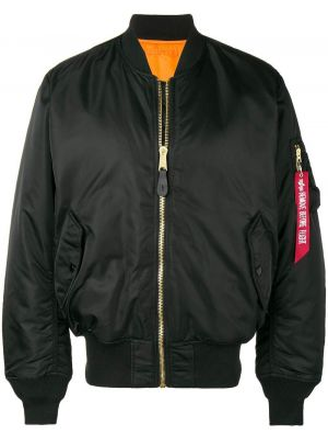 Длинная куртка черная куртка-жакет Alpha Industries