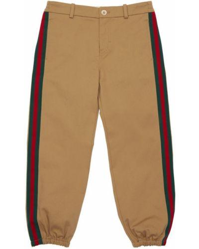 Spodnie na gumce z logo elastyczne Gucci