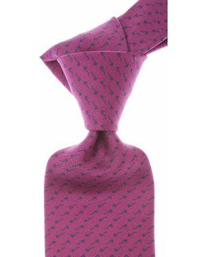 Czarny krawat z jedwabiu Battistoni