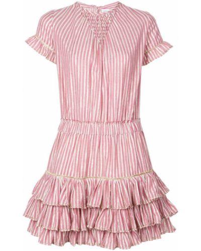 Платье мини розовое в полоску Misa Los Angeles