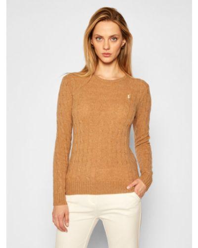 Prosto brązowy kaszmir sweter Polo Ralph Lauren