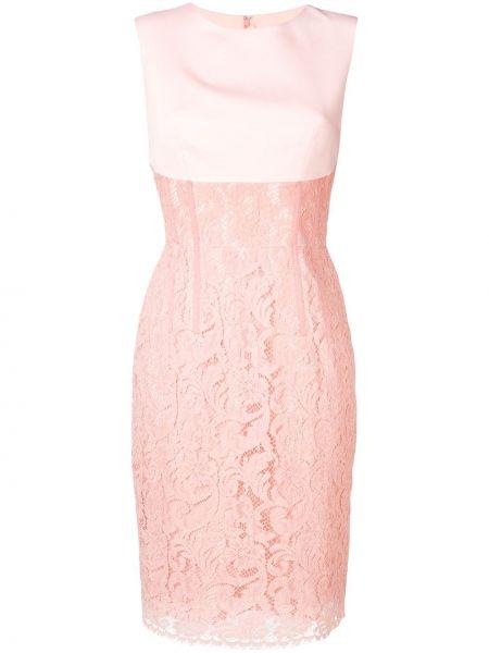 Розовое платье миди без рукавов с вырезом на молнии Sophia Kah