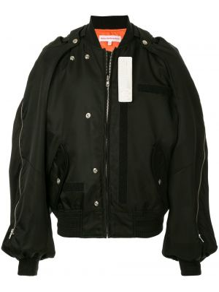 Стеганый пиджак с заплатками на молнии с манжетами Walter Van Beirendonck Pre-owned