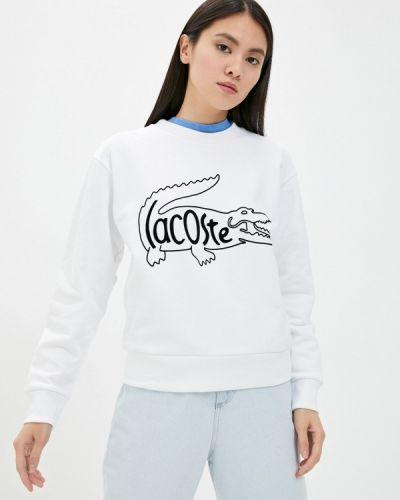 Белая свитшот Lacoste