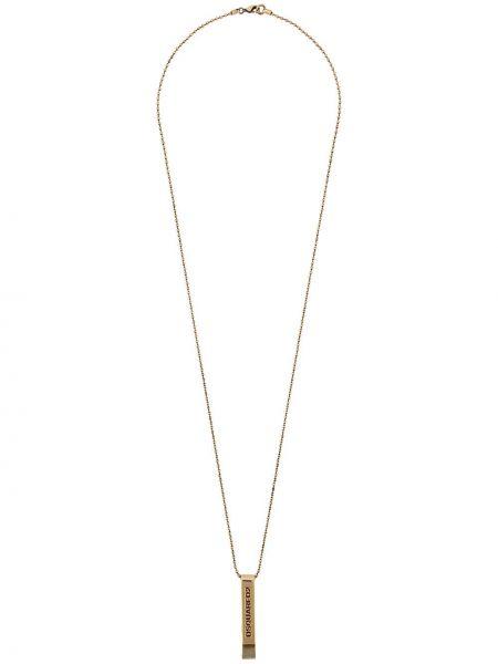 Ожерелье золотой Dsquared2