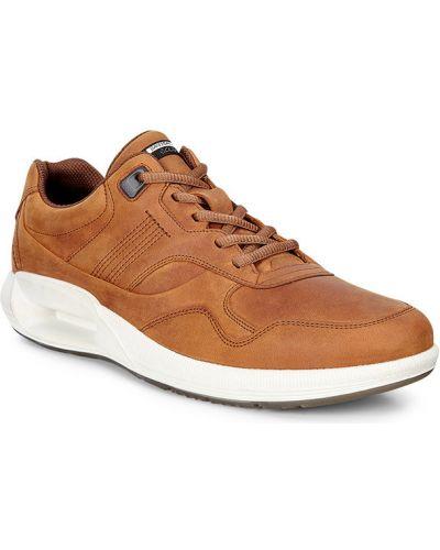 Кроссовки на каблуке коричневый Ecco