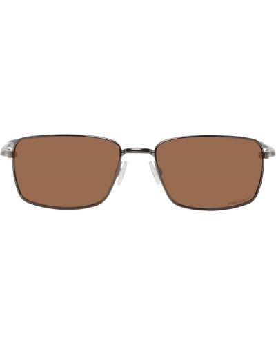Czarne okulary srebrne Oakley