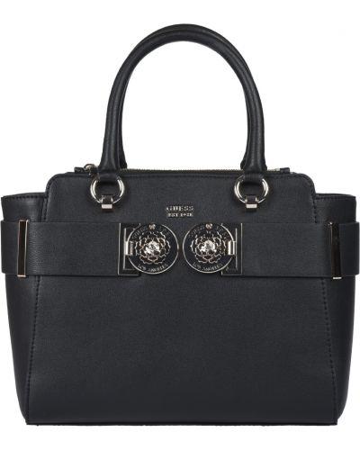 Кожаная сумка черная Guess