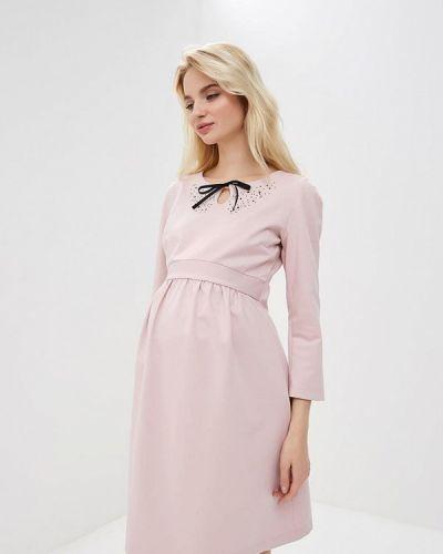 Платье розовое осеннее Мама Мила