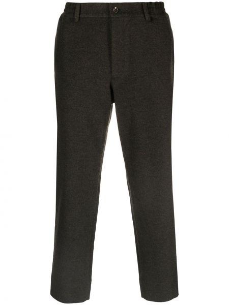 Spodnie khaki wełniane z paskiem Comme Des Garcons Homme Deux