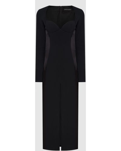 Черное платье макси David Koma