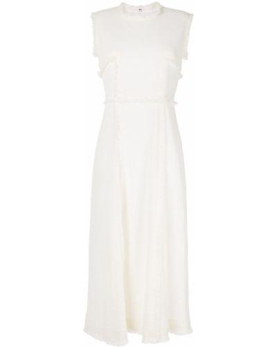 Приталенное платье миди - белое Sonia Rykiel