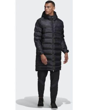 Футбольная спортивная черная длинная куртка Adidas