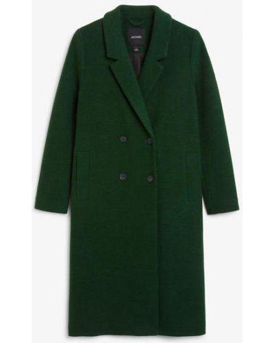 Длинное пальто - зеленое Monki