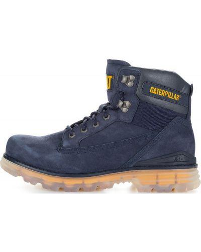 Кожаные ботинки синий со шнуровкой Caterpillar