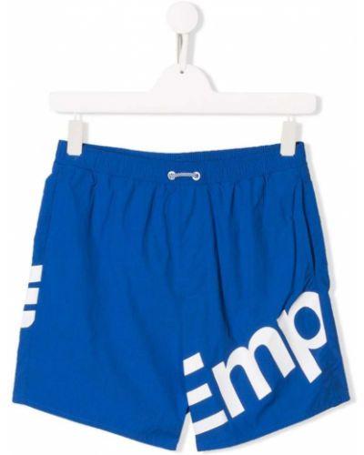 Плавки синие с карманами Emporio Armani Kids