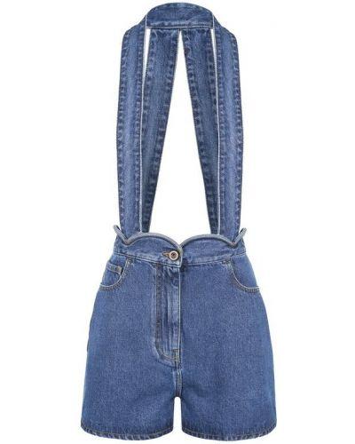 Синий джинсовый комбинезон Valentino