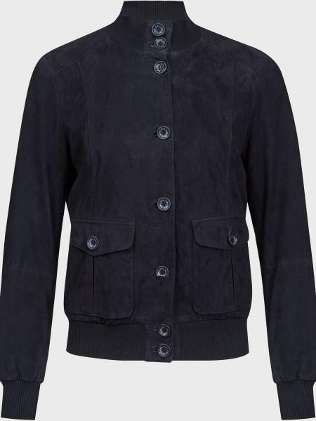 Акриловая синяя куртка на пуговицах Gallotti