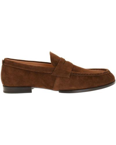 Loafers zamszowe - brązowe Tod's