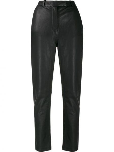 Черные брюки с поясом Frenken
