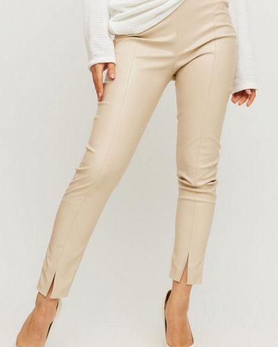 Кожаные брюки - бежевые Karree