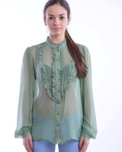 Рубашка с длинным рукавом с воротником-стойкой с карманами Adele Fado