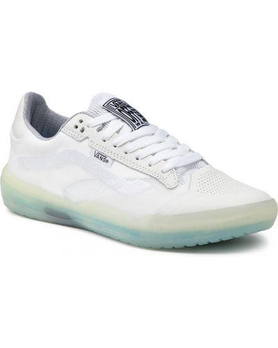 Buty sportowe skorzane - białe Vans