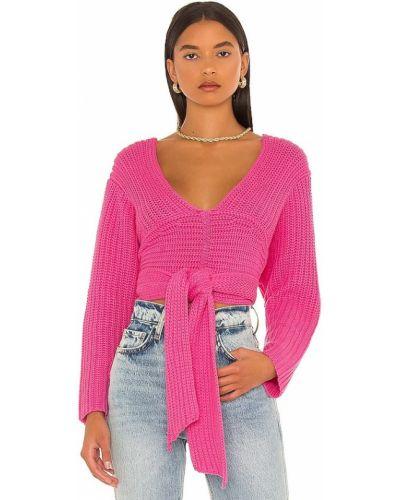 Różowy sweter bawełniany Atoir