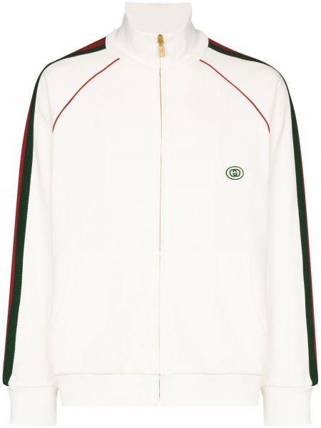 Bawełna bawełna biały bluza z paskami Gucci