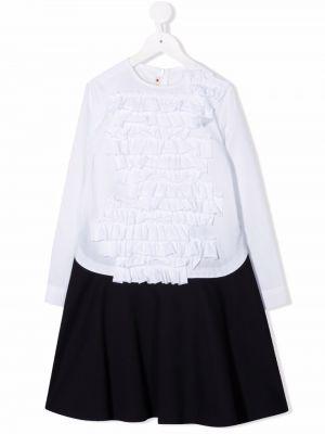Biała sukienka długa bawełniana Marni Kids
