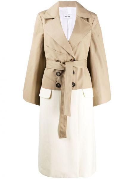 Beżowy płaszcz wełniany z długimi rękawami Each X Other