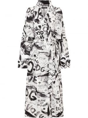 Trencz - biały Dolce And Gabbana