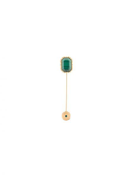 Złota broszka - zielona Dolce And Gabbana