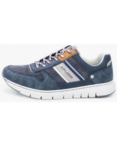 Синие кроссовки из нубука X-plode