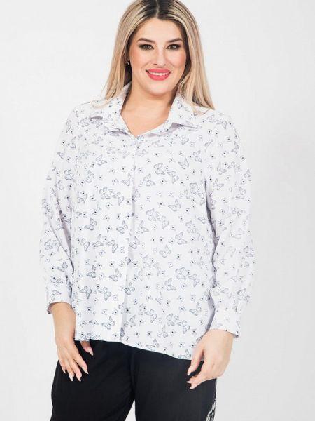 Блузка с длинным рукавом белая весенний Luxury Plus