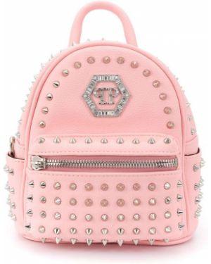 Розовая сумка на плечо Philipp Plein Junior