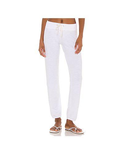 Спортивные облегченные белые махровые спортивные брюки Monrow