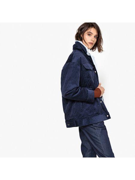 Куртка укороченная с мехом La Redoute Collections