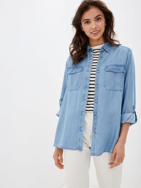 Оливковая джинсовая рубашка с запахом S.oliver
