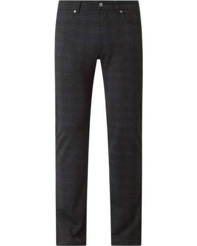 Spodnie w kratę - czarne Christian Berg Men