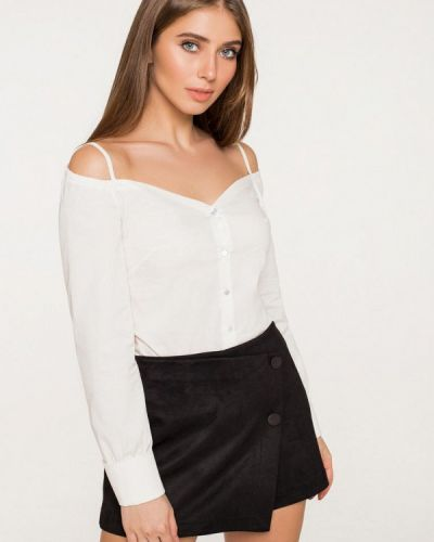 Блузка с открытыми плечами белая весенний Itelle