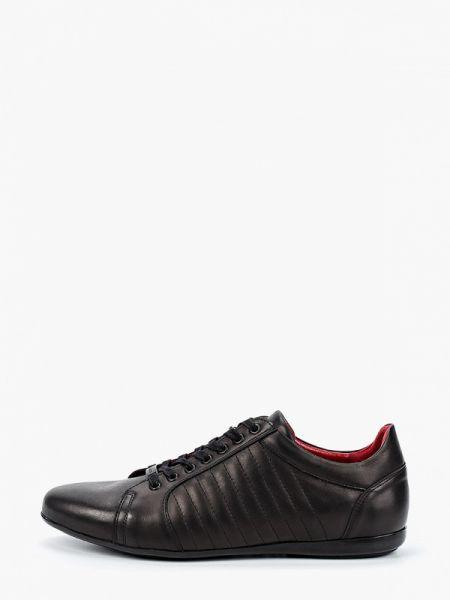Кожаные черные кроссовки Wojas